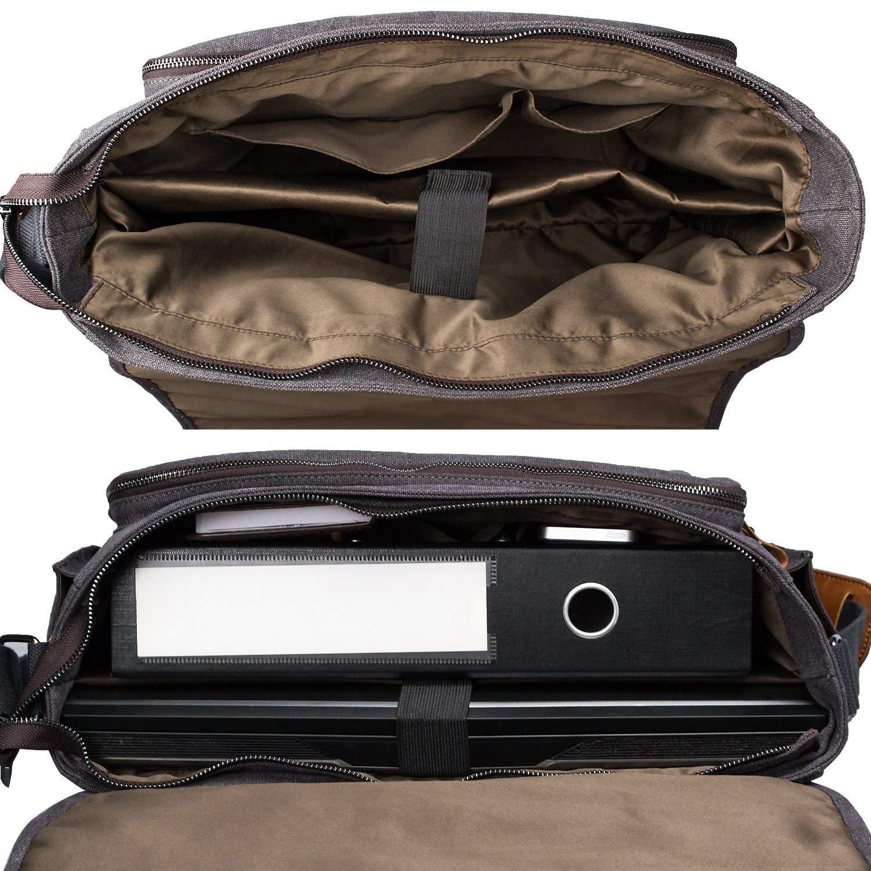 48fd4723e9 Boucle Porte-documents et sacs ordinateur Estarer Sacoche Ordinateur  Portable 17-17,3 en Toile Sac Bandoulière ...