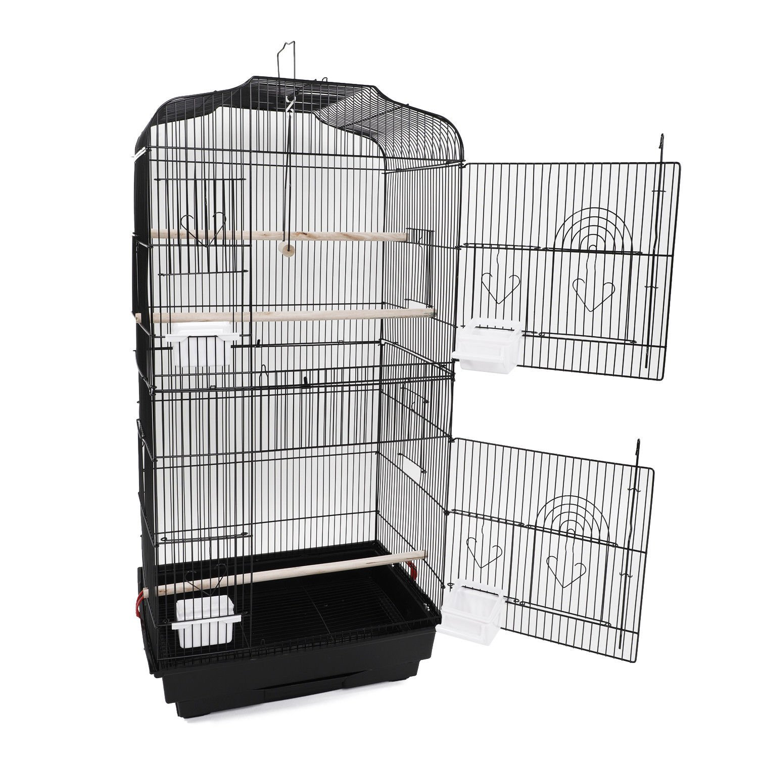 Canary Parakeet Cockatiel LoveBird Finch Bird Cage With Stand --18''x14''x60''Black