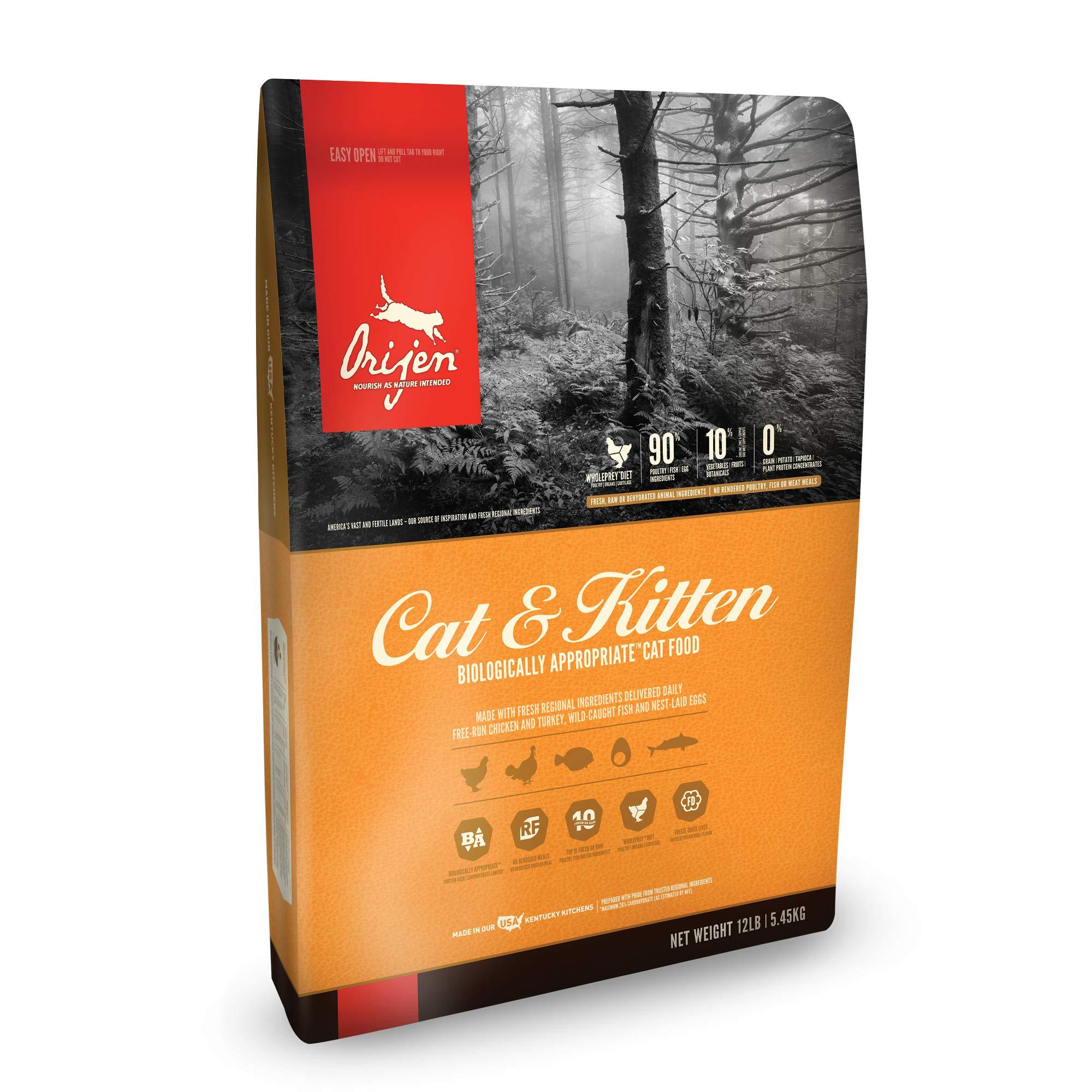 ORIJEN Dry Cat Food, Cat & Kitten, Biologically Appropriate & Grain Free by Orijen