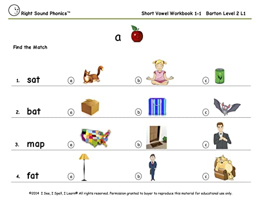 Amazon.com: Short Vowel Workbooks Combo (1, 2 & 3) - Right Sound ...