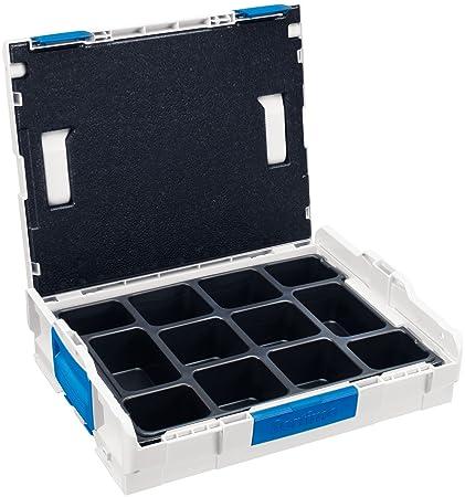 Sortimo LB 102 TE 12 - Caja de herramientas con 12 compartimentos para repuestos