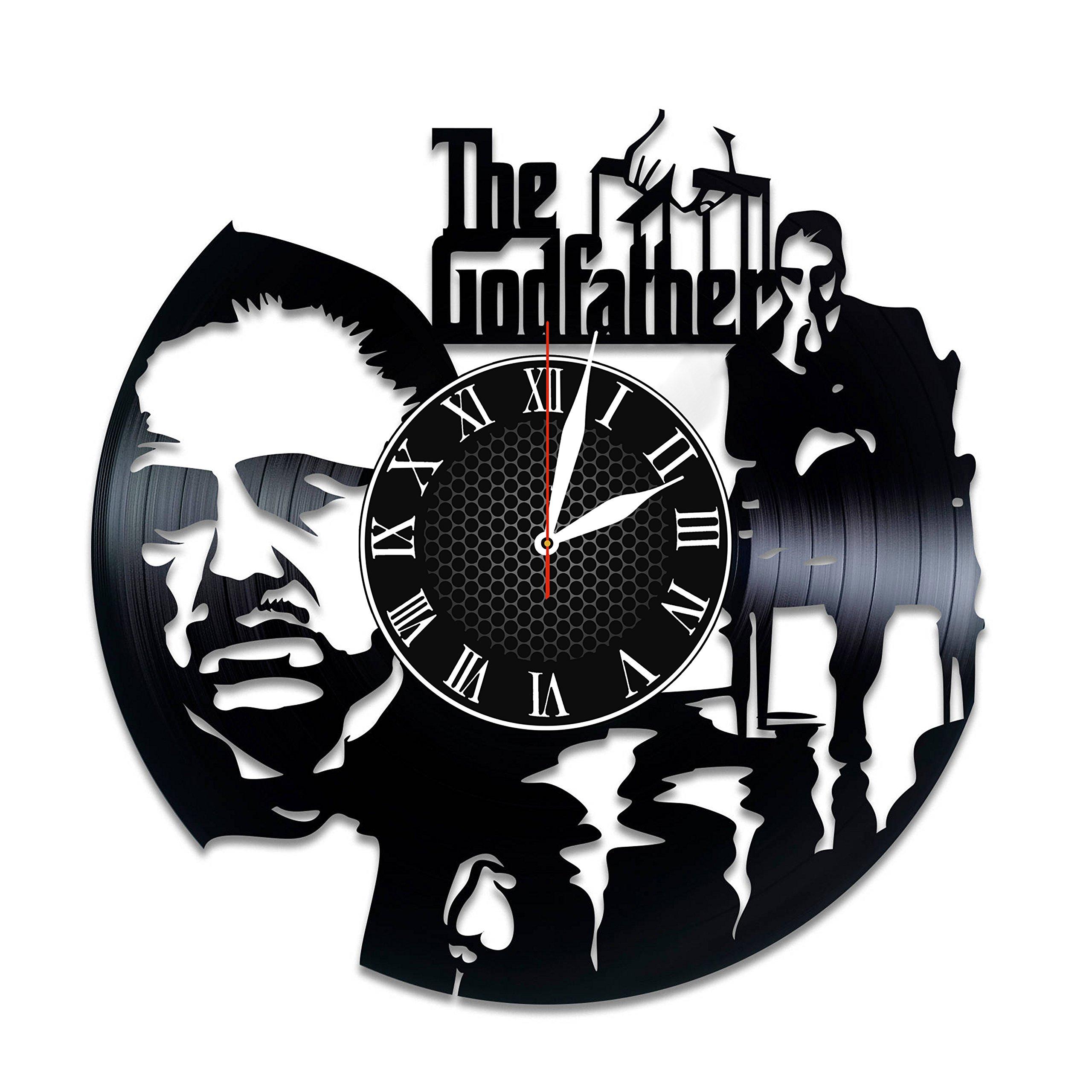 Olha Art Design The Godfather vinyl clock The Godfather wall decor The Godfather mafia The Godfather movie The Godfather videogame The Godfather fan gift