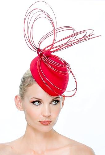 Amazon.com  Red Kentucky Derby fascinator hat  Handmade ff1d8122caf3