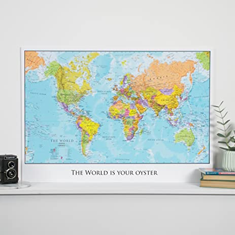 Amazoncom Personalized World Travel Map Create Your Own Title - Create your own travel map