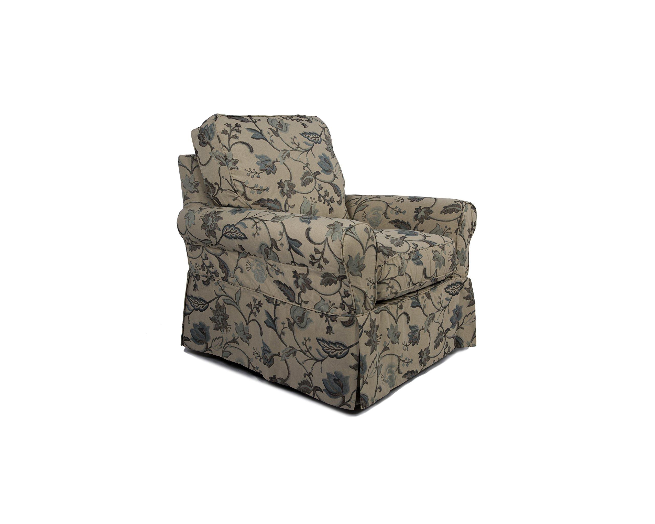 Sunset Trading Horizon Swivel Chair Slip Cover Set Only, Saratoga Spa