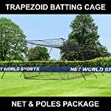 FORTRESS Trapezoid Baseball Batting Cage [Complete Package] - Softball Hitting Cage Net
