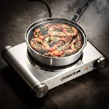 FortheChef Quantum Single Stainless Steel Silver Countertop Electric Burner, 1500W