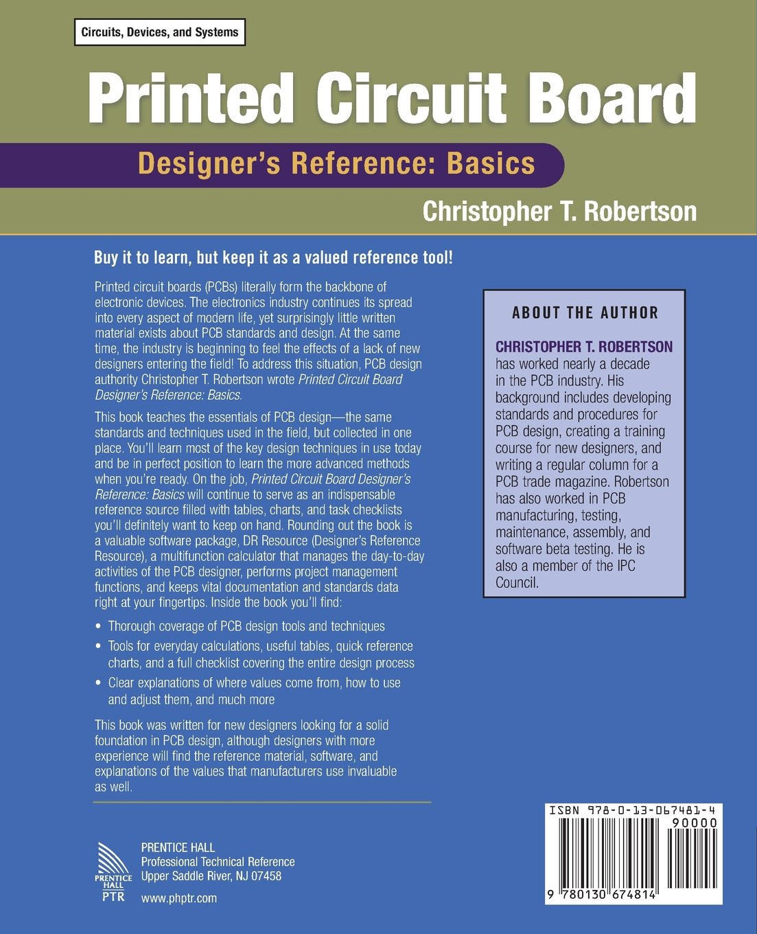 Designing Printed Circuit Boards It Has Tools For Creating Buy Board Designers Reference Basics Prentice Hall Modern Semiconductor Design Book Online At Low Prices In India
