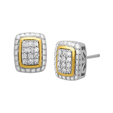 679ff345f Image Unavailable. Image not available for. Color: 1/6 ct Diamond Stud  Earrings in Sterling Silver ...