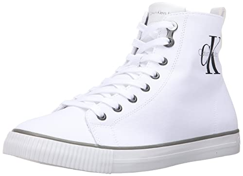 Calvin Klein Jeans Men's Arthur High Top Sneaker, White, 40 EU