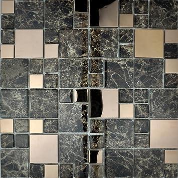 Metallic Modular Badezimmer Küche Mosaik Fliesen Kupfer - Mosaik fliesen metallic