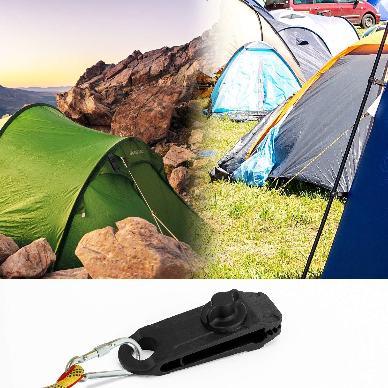 LUTER 12 P/èces Lot de Clips de Verrouillage Clips de B/âche S/écurise Multifonctions pour Activit/és Camping Canopy