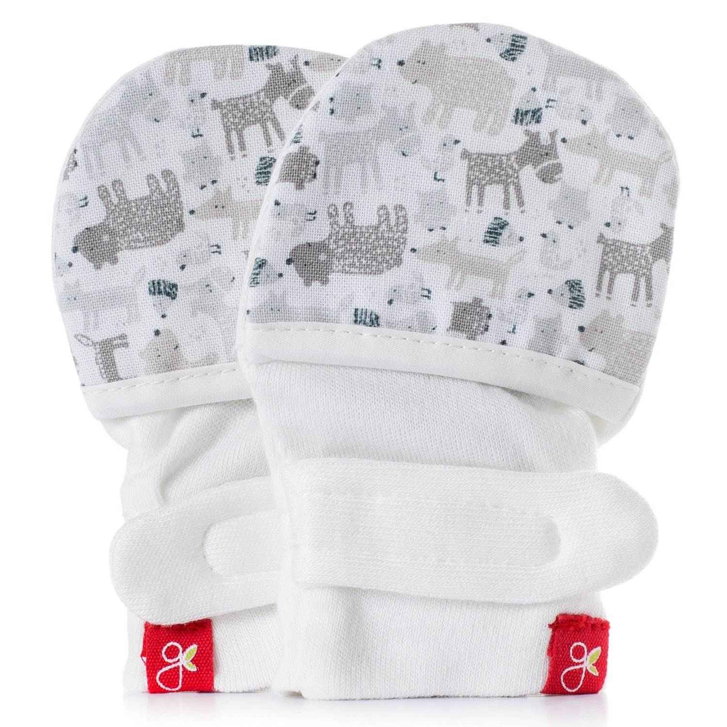 goumikids - goumimitts, Scratch Free Baby Mittens, Organic Soft Stay On Unisex Mittens, Stops Scratches and Prevents Germs