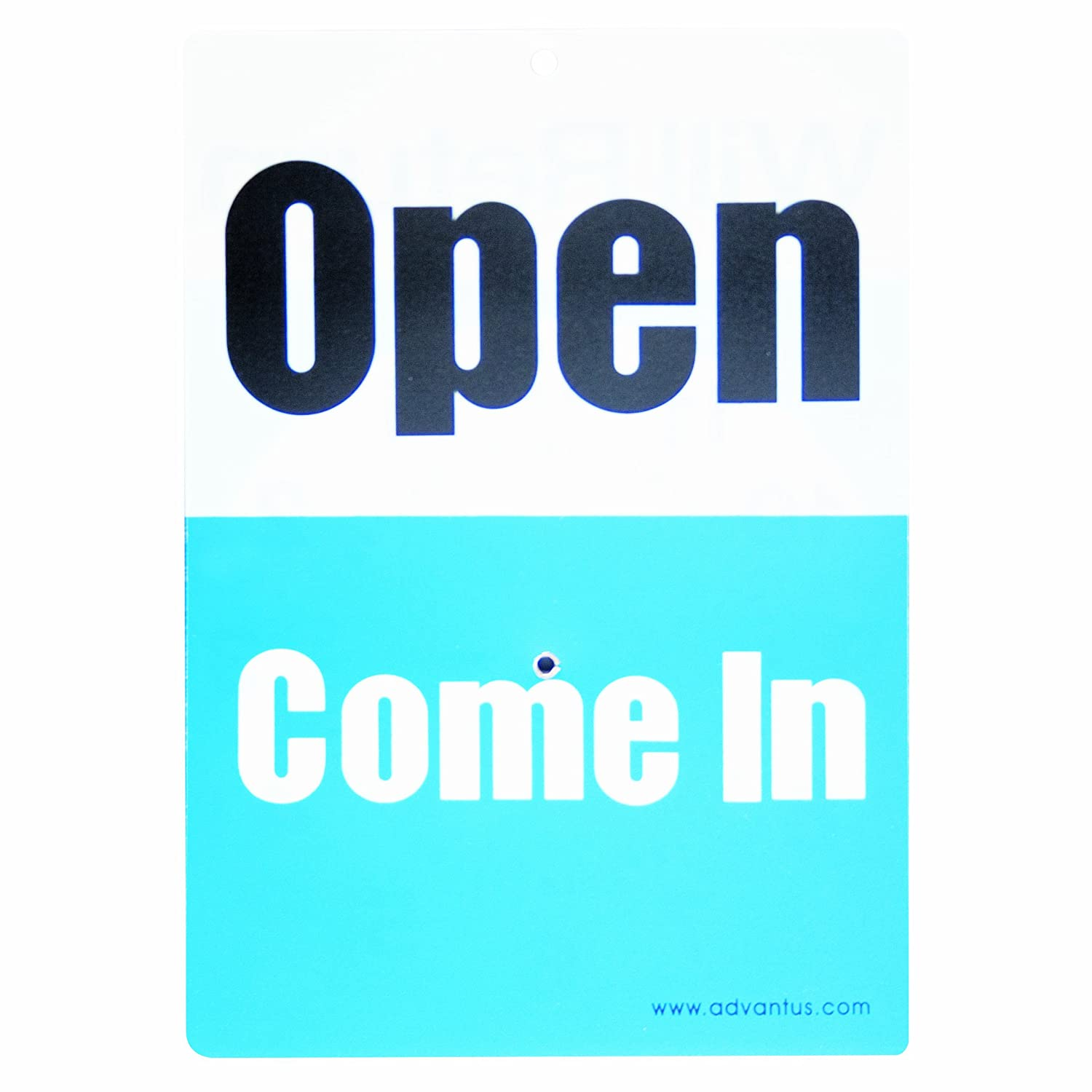 83636 Advantus Corp.- Office 11.5 x 6 Inches Black//White//Red ADVANTUS 2-Sided Open//Closed with Hand Clock Sign