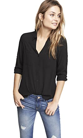 f1e11e706f2 Express Women s Convertible Sleeve Portofino Shirt
