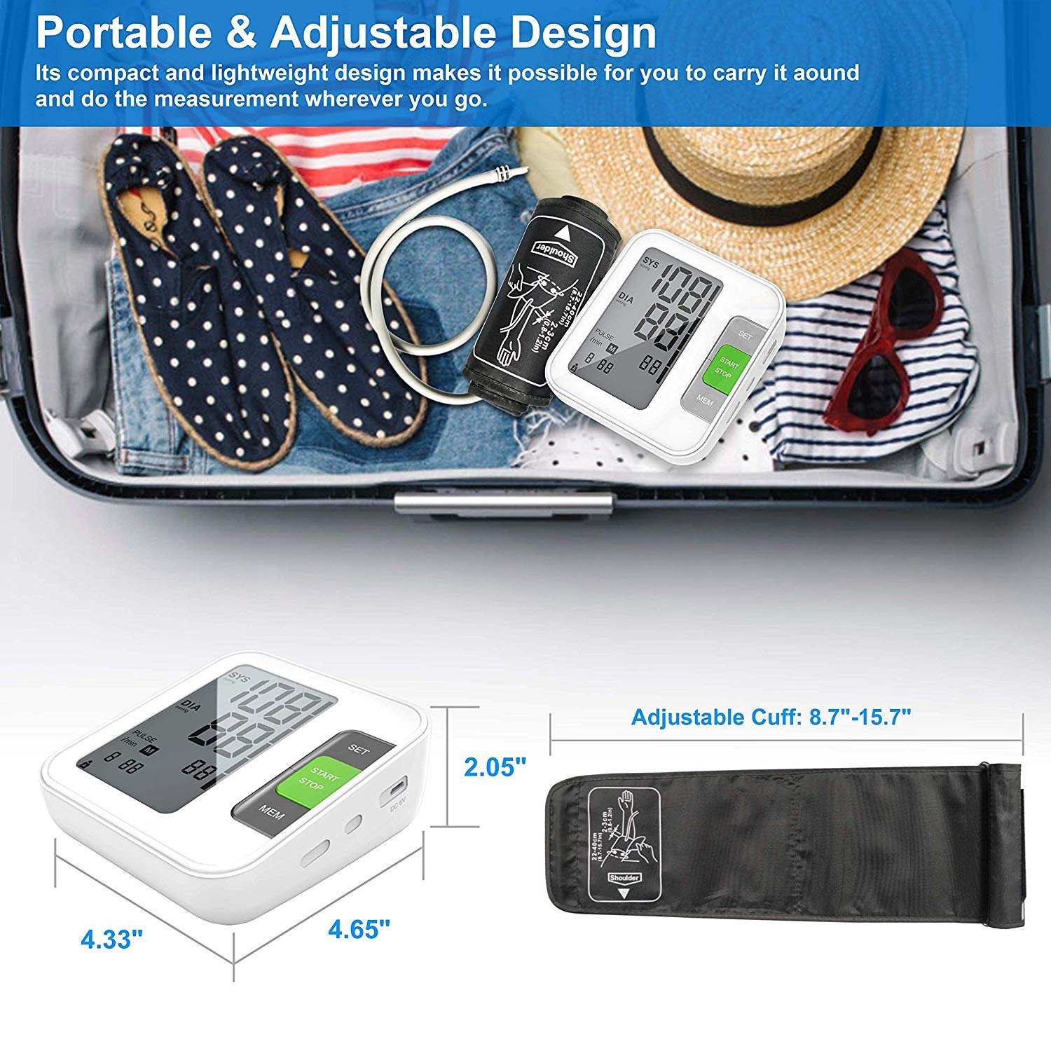 Latest Brand Blood Pressure Monitor - Approved for Arm Use - Digital Blood Pressure Machine BP ALLFORYOU091102 by STARLIKE