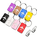 Luggage Tags by ATA (8 Pack) ID Address Labels - Plus x 2 Combination Padlocks