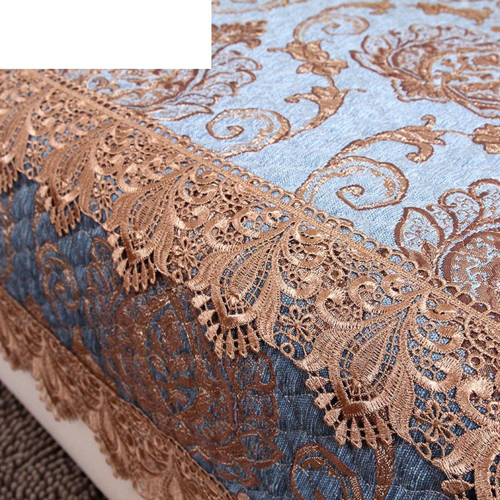 sofa towel/blue,ga, four seasons,anti-skidding ,european style, solid wood sofa towel/towel-A 90x150cm(35x59inch) by HEKNXNLKLASFK (Image #2)