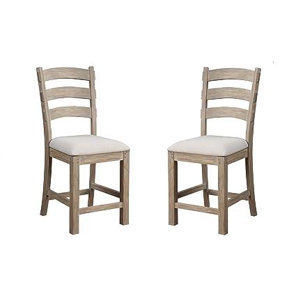 Terrific Amazon Com Emerald Home Castle Bay Whitewashed Pine 24 Bar Customarchery Wood Chair Design Ideas Customarcherynet