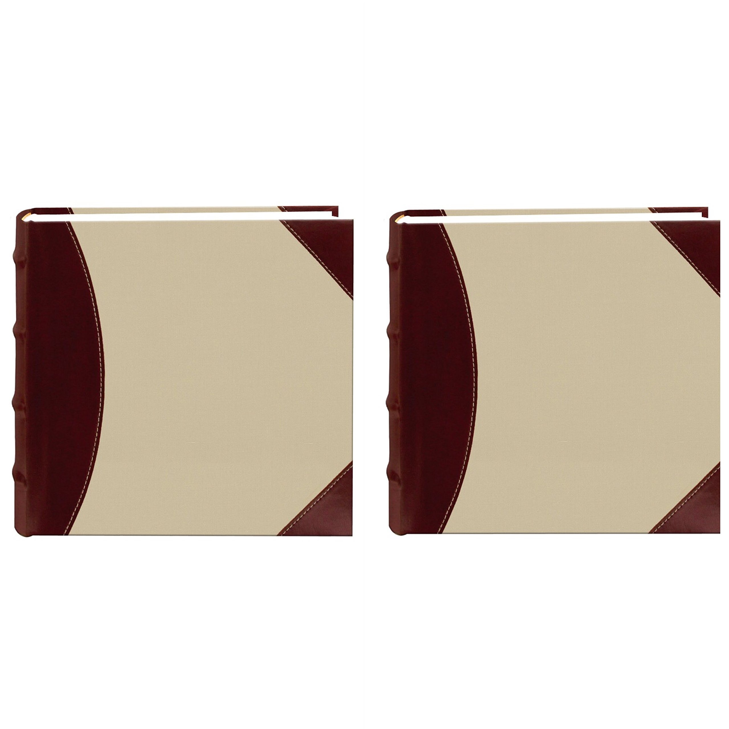 Pioneer Photo Albums 639300 Fabric/Leatherette 300 Photo Album 4X6 2-UP Beige Brown (2) by pioneer photo Albaums (Image #1)