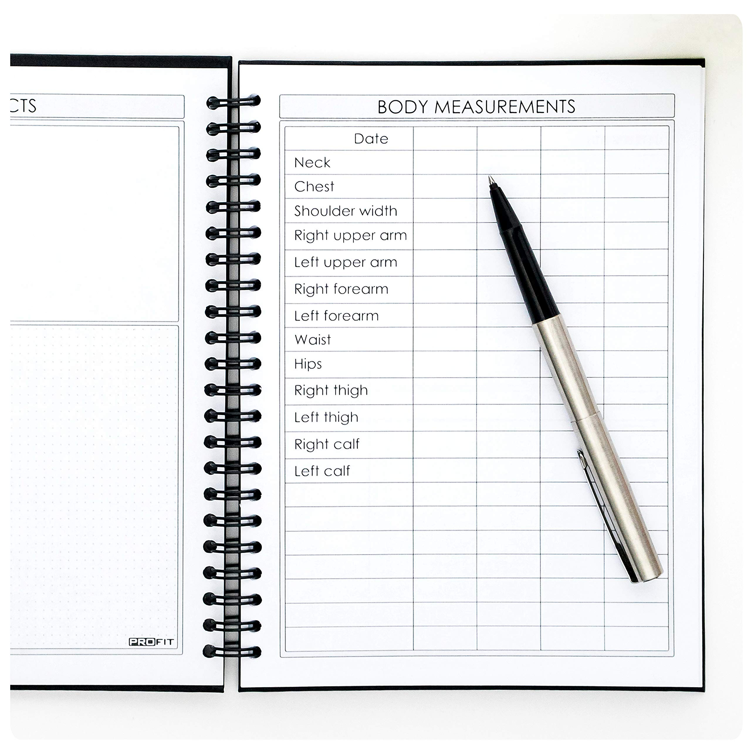 Fitness and Food Journal by Profit - Workout Log Book
