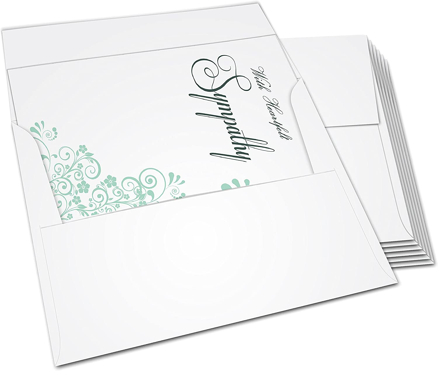 Coworkers Family and Neighbors Blank Inside for All Occasions Condolences in Bulk Sympathy Cards 36 Card Box Set with Envelopes for Friends