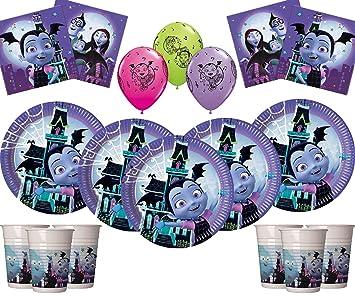Vamparina Party Vampirina Party Supplies 58 Piezas Deluxe Birthday Vajilla Decoración Pack Girls Birthday Kit- Sirve 16