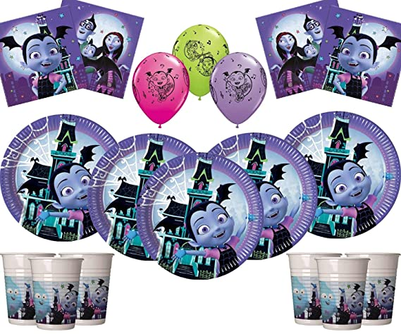 Vamparina Party Vampirina Party Supplies 58 Piezas Deluxe Birthday Vajilla Decoración Pack Girls Birthday Kit- Sirve 16