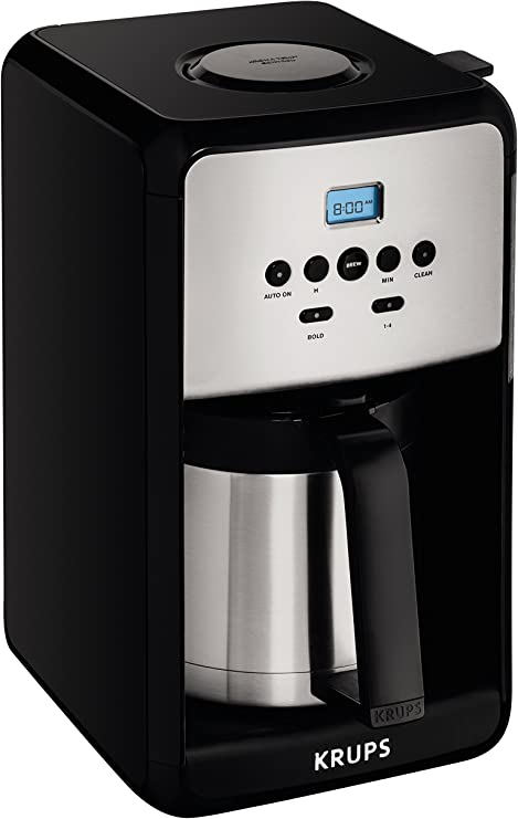 KRUPS ET351 SAVOY Programmable Thermal Stainless Steel Filter Coffee Maker Machine with…