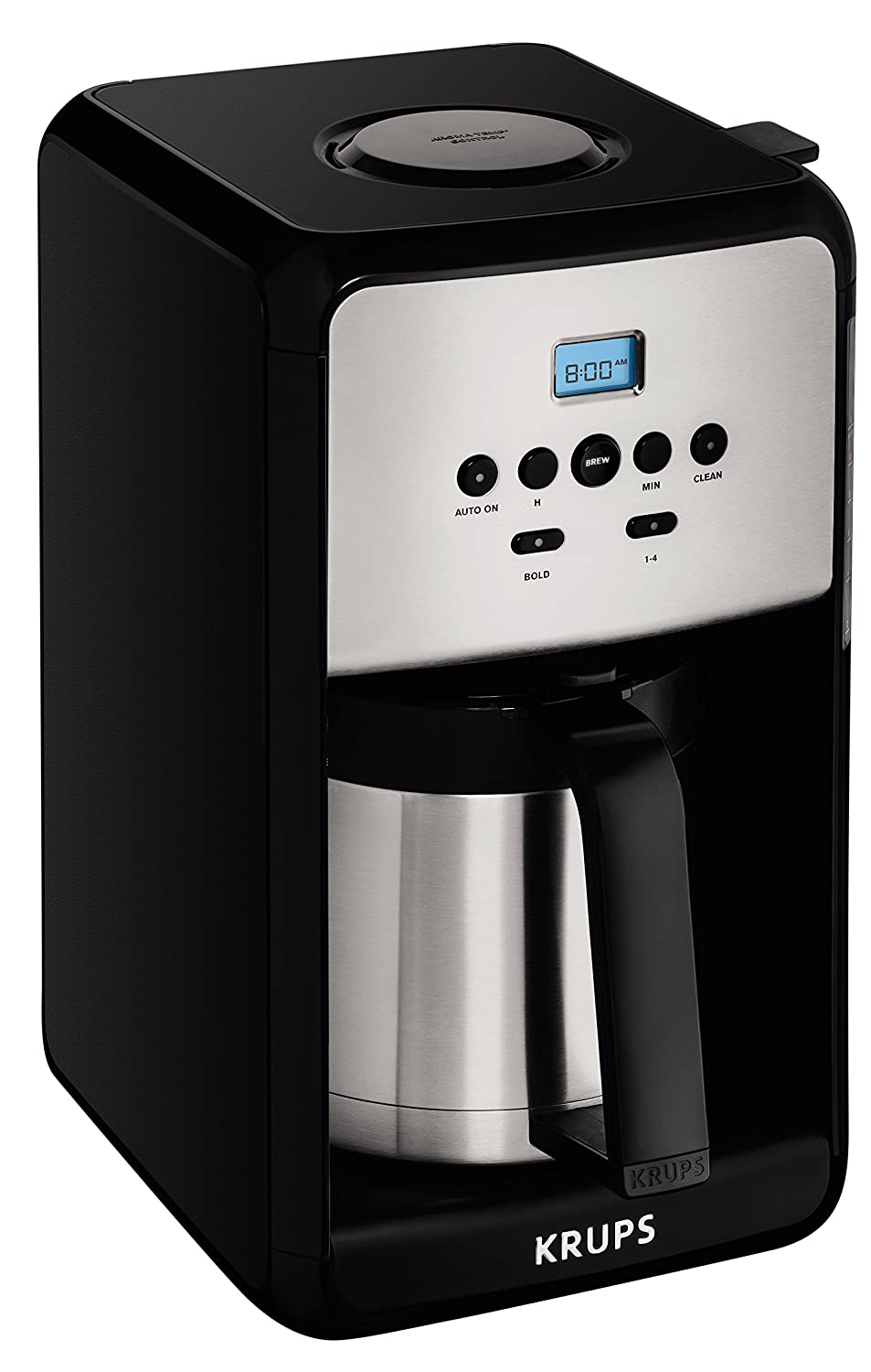 KRUPS ET351 Coffee Maker, Coffee Programmable Maker, Thermal Carafe, 12 Cup, Black