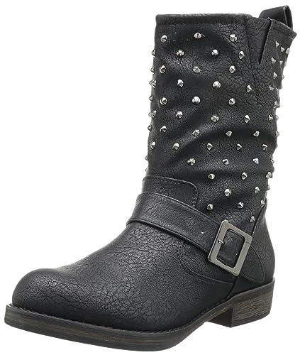 Skechers Women's Accented-Stud Factor Boot,Black,6 ...