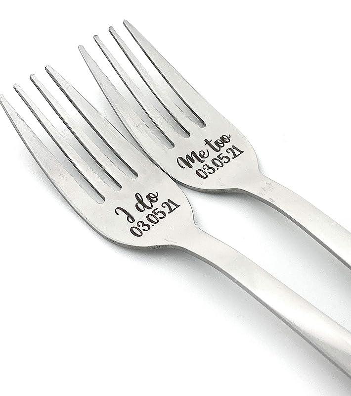 Wedding Silverware I Do Me Too Forks Vintage Forks Wedding Keepsake Wedding Forks Wedding Present Wedding Fork Set Wedding Gift