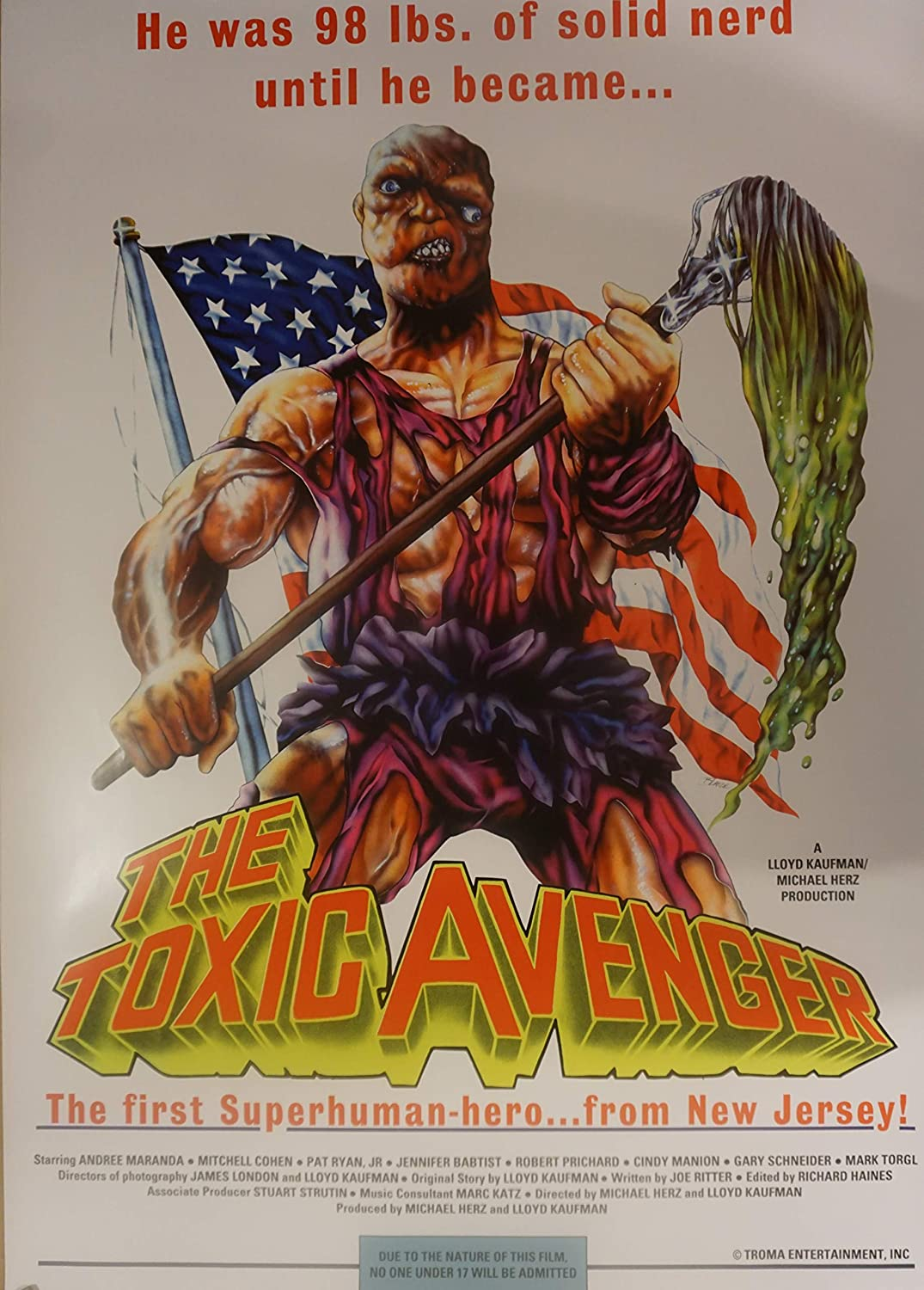 The Toxic Avenger   Cult Movie Posters Classic Vintage Cinema