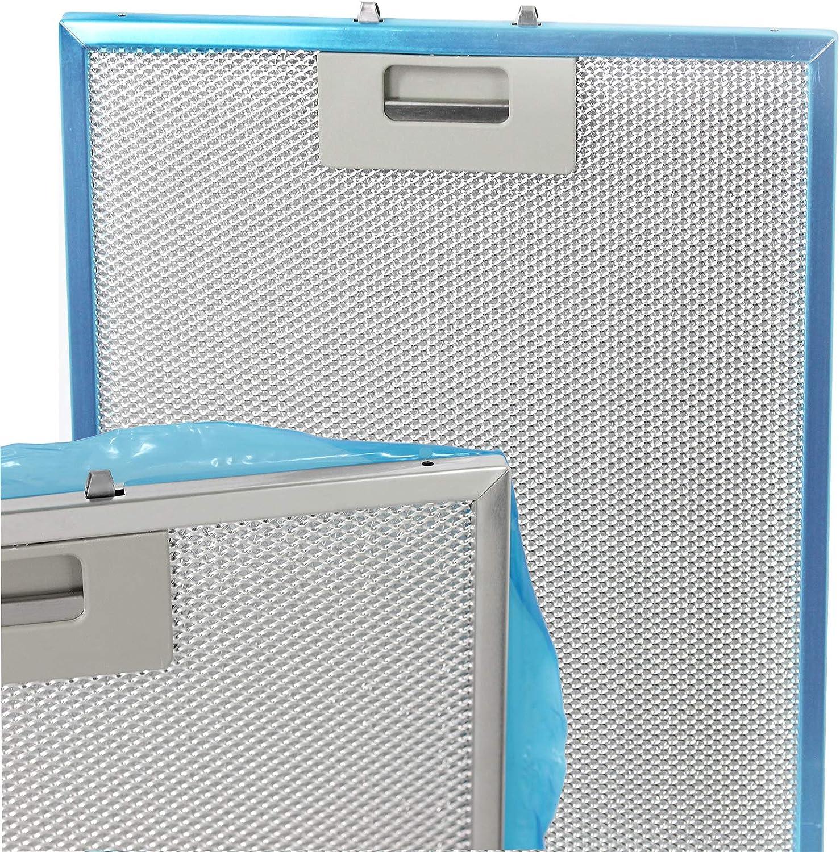 Spares2go Malla Metálica Filtro para Cooke & Lewis/B & Q/cata campana extractor ventilación (Pack de 2 filtros, Plata, 320 x 260 mm): Amazon.es: Hogar
