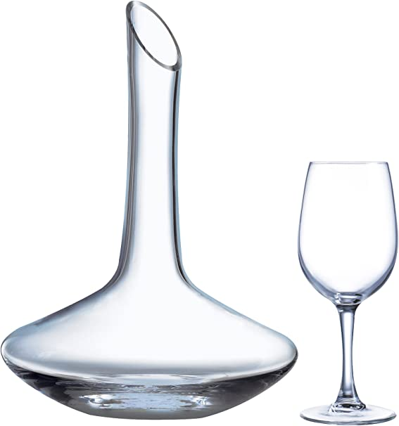 Luminarc Set de 4 Verres avec Carafe à décanter Vinery