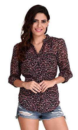 The Gud Look Women s Animal Print Top  Amazon.in  Clothing   Accessories f3c26b283
