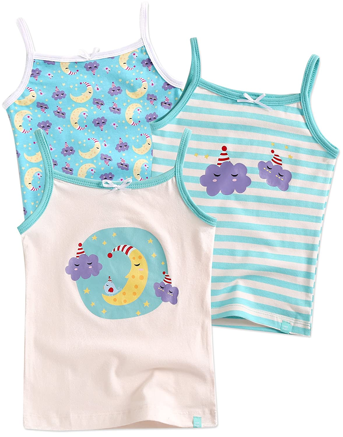 Vaenait Baby 2T-7T Kids Girls 100% Cotton Undershirts Tank Tops Cami (Pack of 3) GB-044