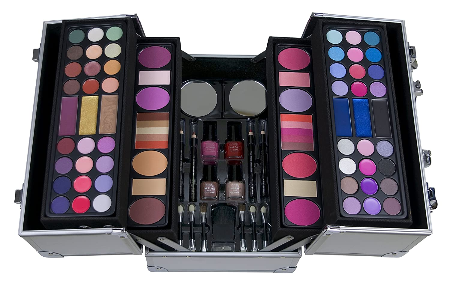 THE COLOR WORKSHOP Mallette de Maquillage Professional Colors Coffret Argent 4572110 4038033457214 sku