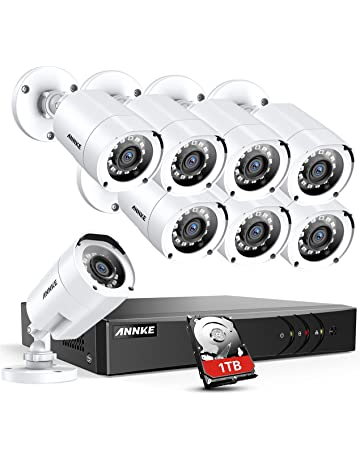 ANNKE 8CH Security CCTV Surveillance System 1080P Lite DVR with 1TB HDD and  (8) f6507157ea