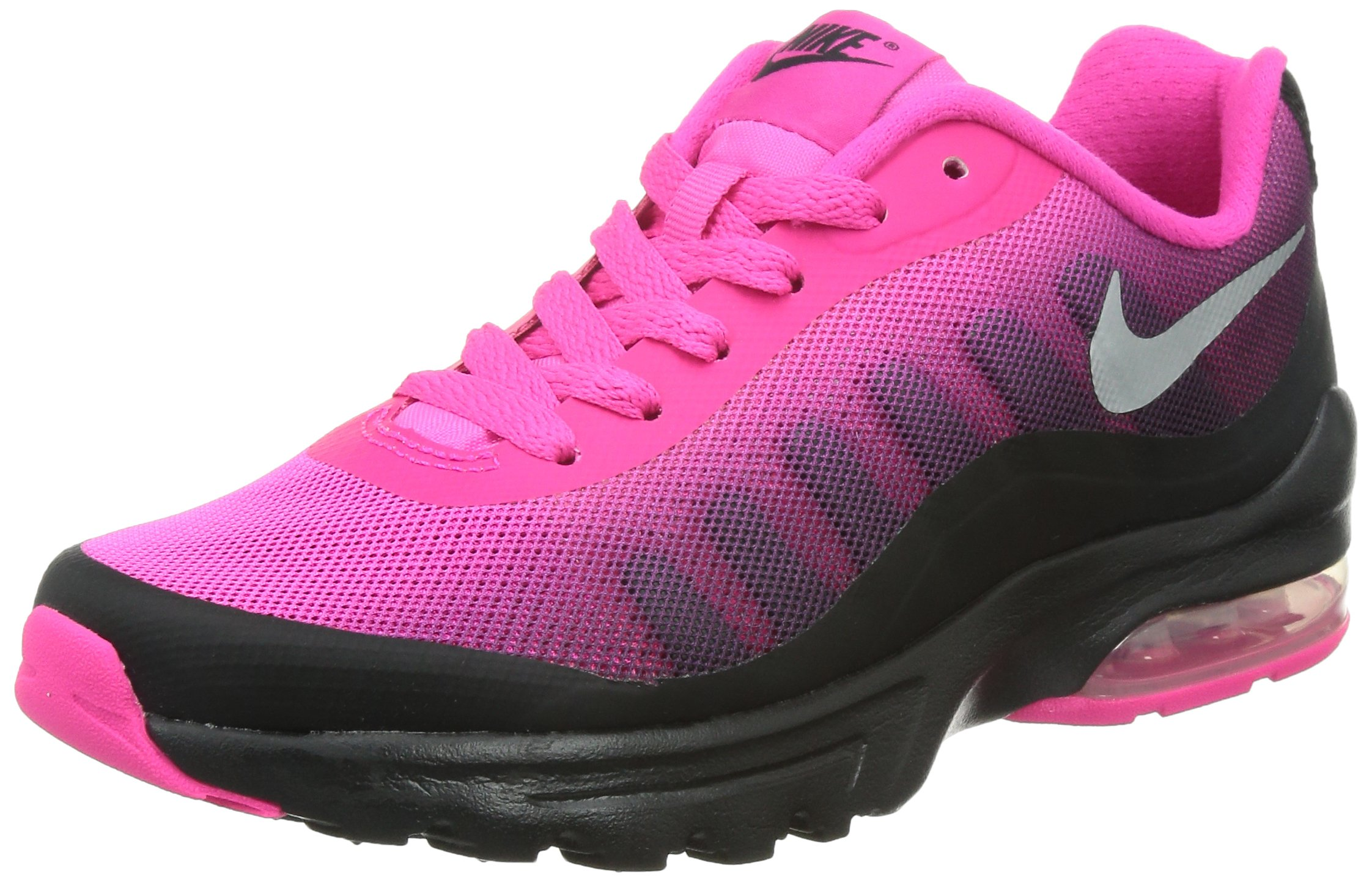 Nike Women's Air Max Invigor Print Black/Metallic Silver/Pink Fl/SPRT Fc Running Shoe 6 Women US
