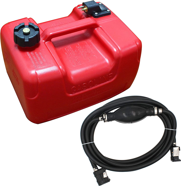 Portable Boat Fuel Tank 12L 3 Gallon Marine Outboard Motor Fuel Tank w/Connector