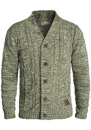 Solid Philotus Herren Strickjacke Cardigan Grobstrick Winter Pullover mit  V-Ausschnitt, Größe  5c12c723b0