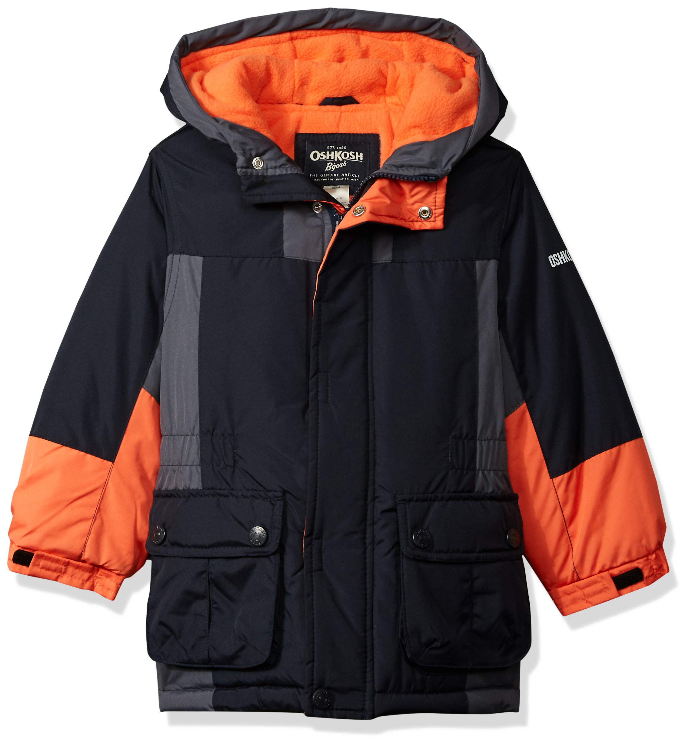 Osh Kosh Boys' Little Classic Heavyweight Active Parka, Navy, 7