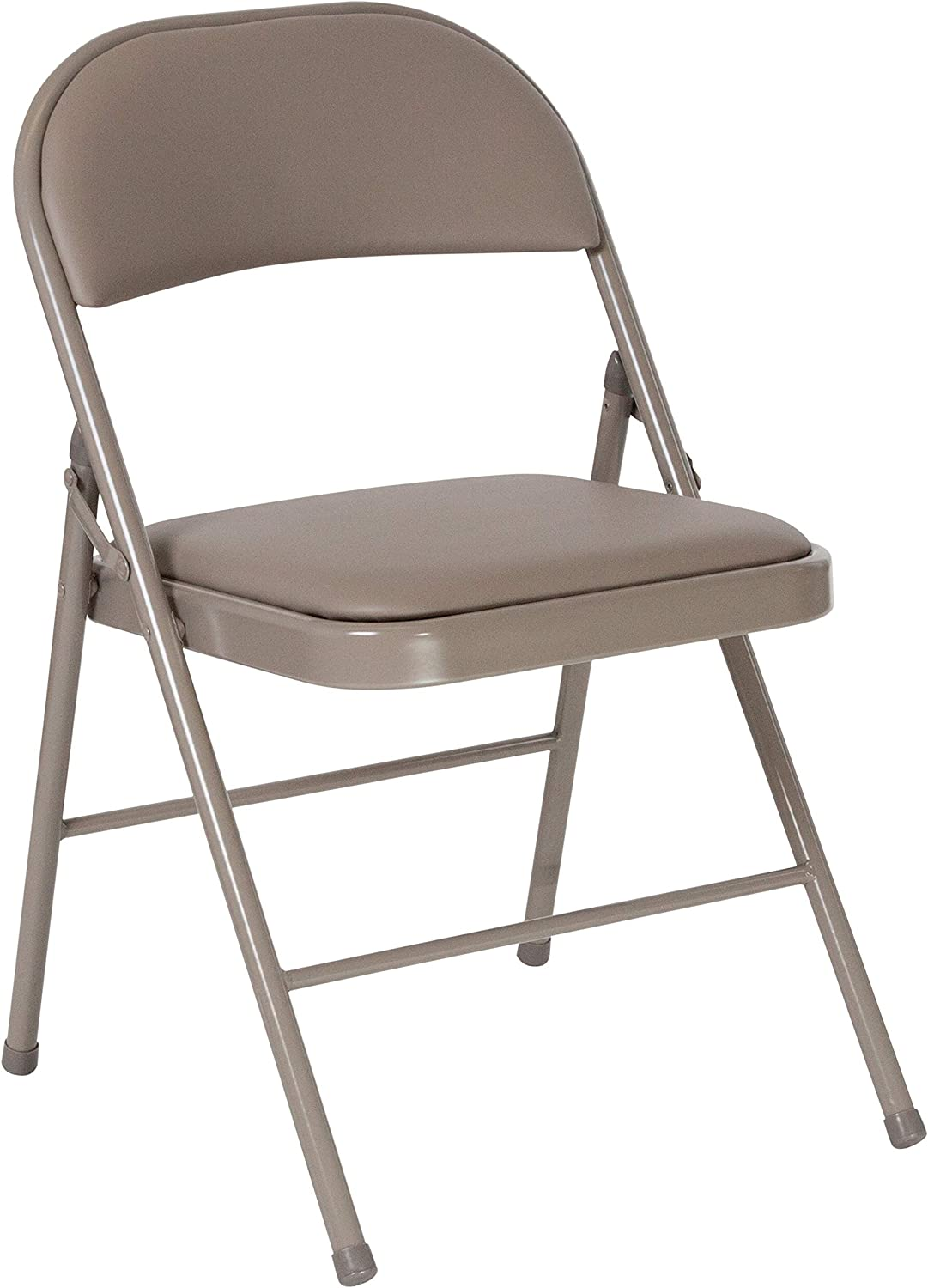 Flash Furniture HERCULES Series Double Braced Gray Vinyl Folding Chair