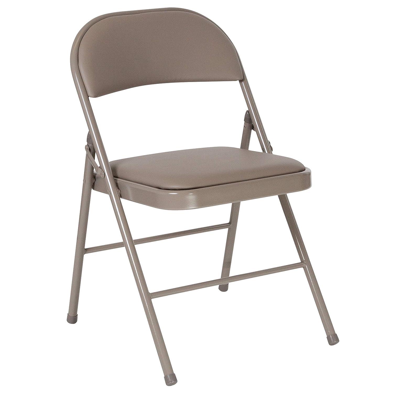 Flash Furniture HERCULES Series Double Braced Gray Vinyl Folding Chair