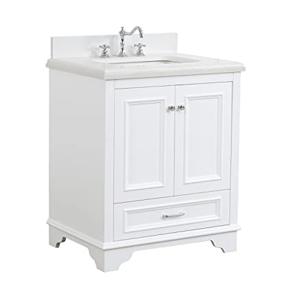 nantucket 30 inch bathroom vanity quartz white includes white rh amazon com 30 inch grey bathroom vanity with sink 30 inch bathroom vanity with sink and drawers