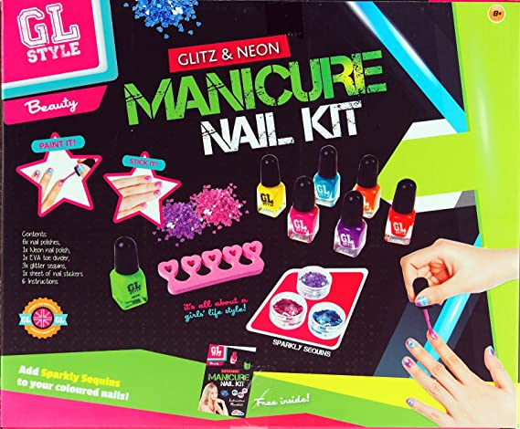First Beauty Glitz And Neon Manicure Nail Kit Girls Age 8 Years