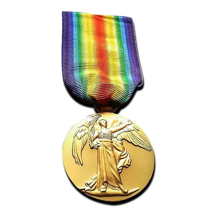 Freecrows Medalla militar de la victoria de la Primera Guerra Mundial (1914-1919), réplica del premio militar británico: Amazon.es: Juguetes y juegos