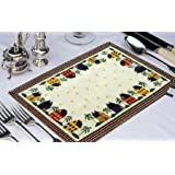 Avioni Loomkart Table Mats (Set Of Seven) With Table Runner On Jacquard Fabric In Avioni Zip Pouch For Easy To Store And Best For Gifting