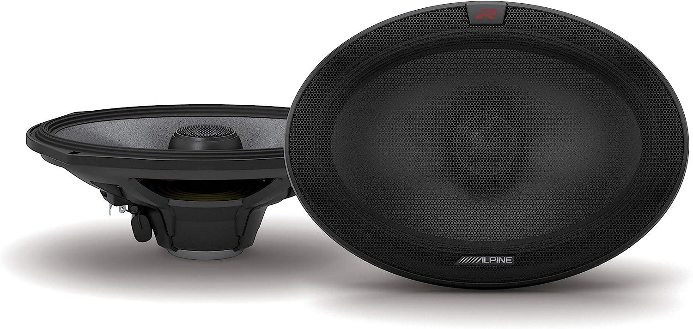Pair Alpine R-S69.2 R-Series 6x9-inch Coaxial 2-Way Speakers